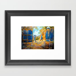 The Blue Gates /Haiti Framed Art Print