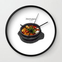 Korean Food Kimchi Jjigae Wall Clock