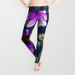 Purple Coneflowers  Leggings