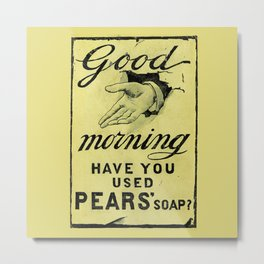 Vintage Pears Soap Advert - Circa 1895 Metal Print