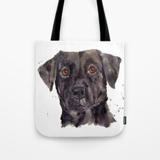 LABRADOR painting, dog painting, watercolor dogs, Black Lab art Tote Bag