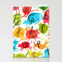 alphabet Stationery Cards featuring Alphabet by zuzia turek