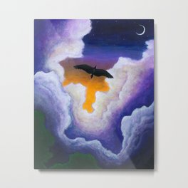 Soaring Through the Clouds -The Groundbird Metal Print