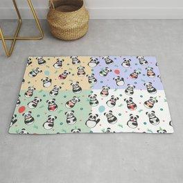 Cute pandas Pattern Rug