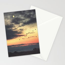 Looking at the Same Moon Stationery Cards