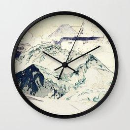 Flight Over Yatsugate Wall Clock