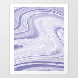 Liquid Marble Parma Violets Art Print