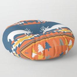 Deer winter pattern Floor Pillow