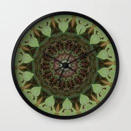 Protectors of the Green Net Mandala Wall Clock