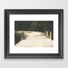 Wooden Bridge Framed Art Print