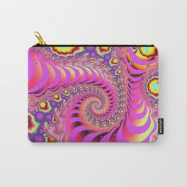 Colourful spiral motion, fractal abstract art Carry-All Pouch