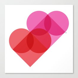 Geometric Love Canvas Print