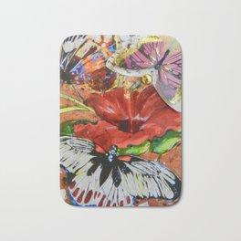 Hibiscus with Butterflies Bath Mat