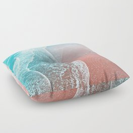 Sea Blue + Rose Gold Floor Pillow