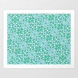 Colorful Abstract Print Pattern Art Print