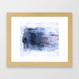 compressed waves Framed Art Print