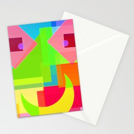 Abstract Geometry Face Stationery Cards