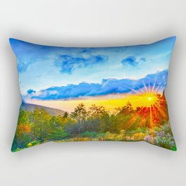 autumn morning in the smoky mountains Rectangular Pillow