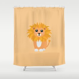Cute kawaii lion T-Shirt for all Ages Da3cq Shower Curtain