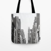 broadway Tote Bags featuring Broadway - NY by Basma Gallery