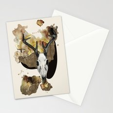 Deer Skull by carographic Stationery Cards