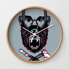 Wild BEARd Wall Clock