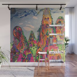 Talking Mountains Wall Mural