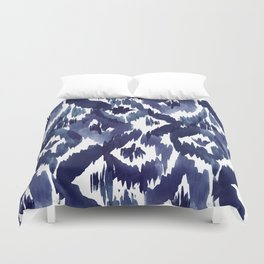 Indigo Blue Ikat Duvet Cover