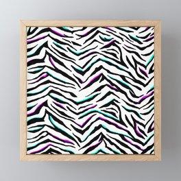 Zazzy Zebra Animal Print Framed Mini Art Print