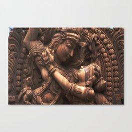 Eternal Love Story - Krishna with Radha Canvas Print