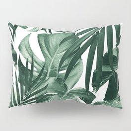 Tropical Jungle Leaves Pattern #4 #tropical #decor #art #society6 Pillow Sham