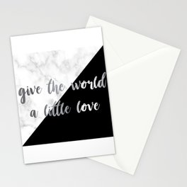 give the world a little love Stationery Cards