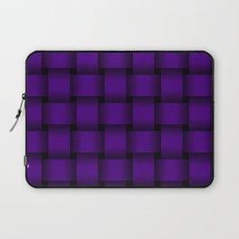 Large Indigo Violet Weave Laptop Sleeve