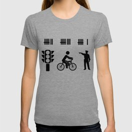 car driver racer highway police PS gift T-shirt