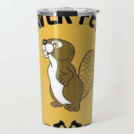 Beaver Fever - Black and White Travel Mug