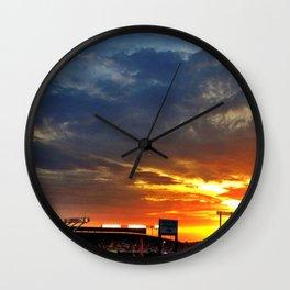 Kauffman Stadium at Sunset Wall Clock