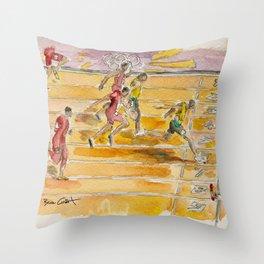 Usain Bolt - Jamaican Sprinter Throw Pillow