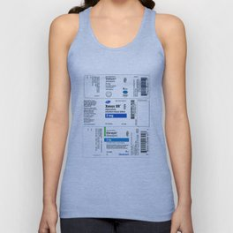 Drug Labels Unisex Tank Top