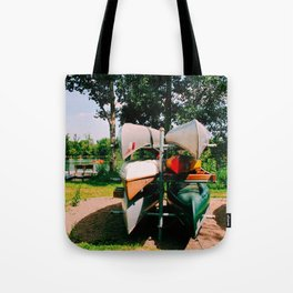 Waiting for the ride Tote Bag
