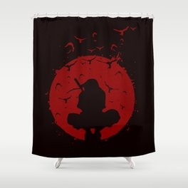 Ninja Silhouette Shower Curtain