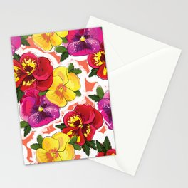 the pansy Stationery Cards