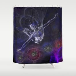 Galactic Acrobat Shower Curtain