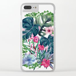 Tropical Plants Clear iPhone Case