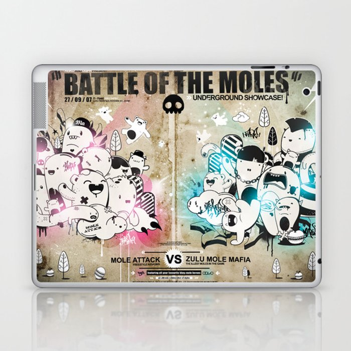 Battle of the moles Laptop & iPad Skin