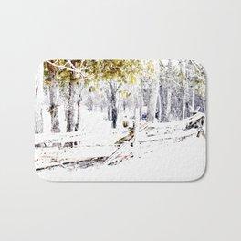 Winter Fence Line | Landscape | Nadia Bonello | Canada Bath Mat