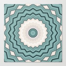 Abstract Turquoise Rings Canvas Print
