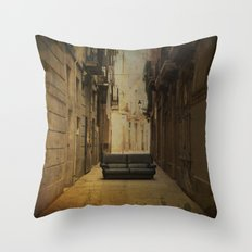 Amazing big things I found in Barcelona's streets Throw Pillow