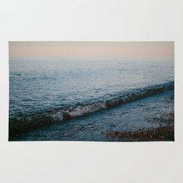 Dusk Waves // Upper Peninsula, Michigan Rug