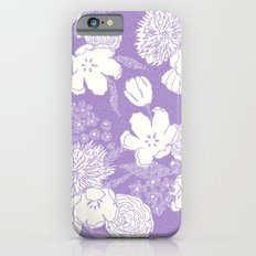 SKETCHY FLORAL: DUSTY LAVENDER Slim Case iPhone 6s