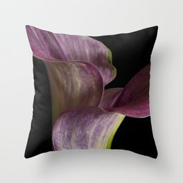 Purple Calla Lily Flowers Throw Pillow